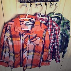 Lot of 3 Size 5t Old Navy button ups